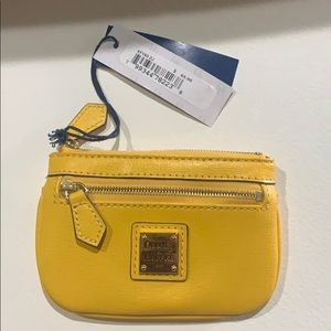 Dooney & Bourke Yellow coin purse